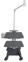 weiko mr6 - přístrojový stolek pro klidové EKG a laptop